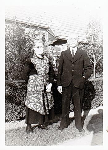 Hindrik de Jager en zijn vrouw Harmke Ploeg, op latere leeftijd