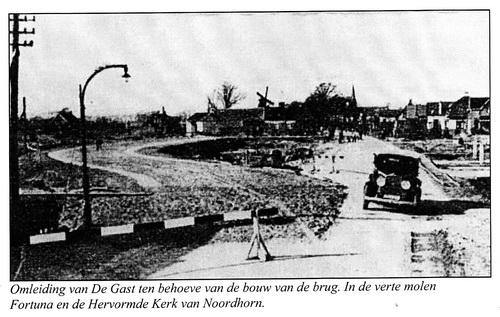 Illustratie bij het artikel over de aanleg van het Van Starkenborghkanaal in de jaren dertig.