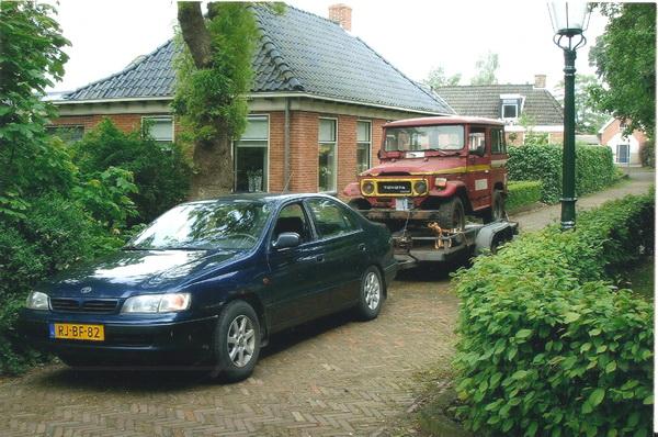 Aankomst Toyota Landcruiser in Noordhorn