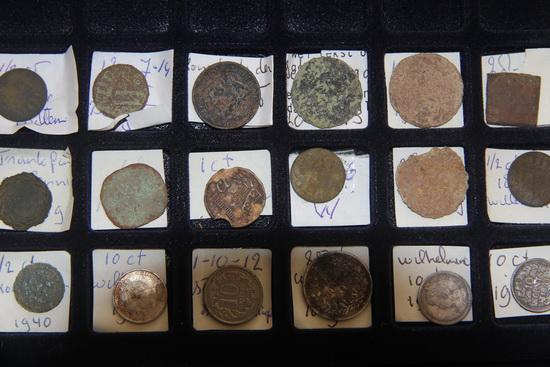 gevonden munten...