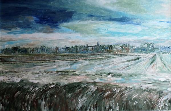 Oostzijde Noordhorn in de winter