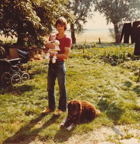 Sipke met eerste dochter Dineke