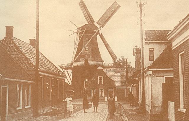 Langestraat Noordhorn oude foto uit boek crop